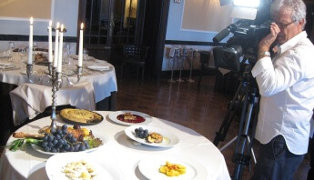 Le riprese all'Hotel Brufani Palace di Perugia
