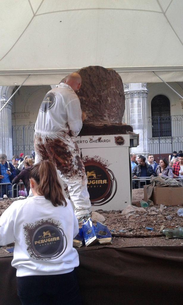 le sculture di cioccolato